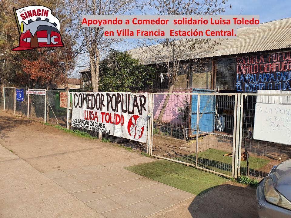 Entrega de ayuda solidaria al comedor popular Luisa Toledo