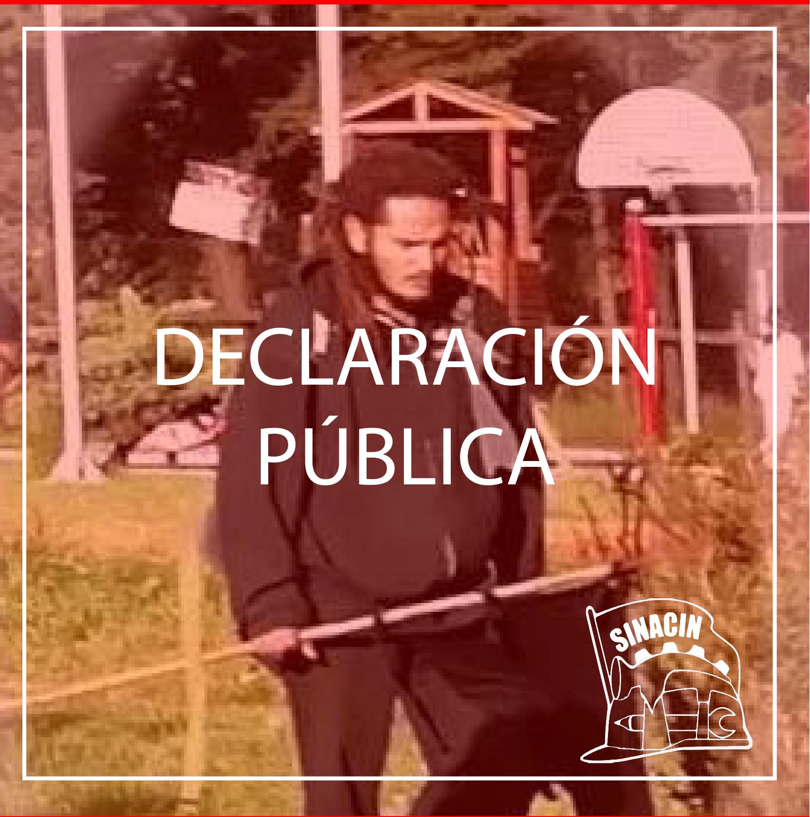 Declaración Pública frente al asesinato de Francisco Martínez